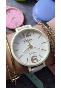 Biały zegarek GSM City