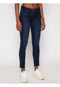 Lee Jeansy Skinny Fit Scarlett L526RKIN Granatowy Skinny Fit. Kolor: niebieski. Materiał: jeans