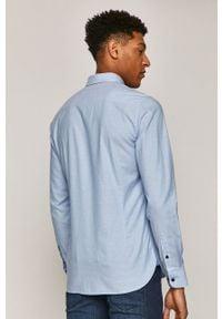 Niebieska koszula medicine z długim rękawem, na co dzień, button down