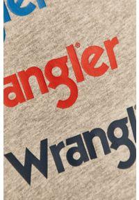 Szara bluza nierozpinana Wrangler bez kaptura, z nadrukiem