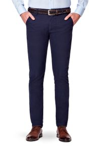 Niebieskie spodnie Lancerto na co dzień, w kolorowe wzory, casualowe