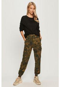 Spodnie materiałowe Desigual z podwyższonym stanem, casualowe