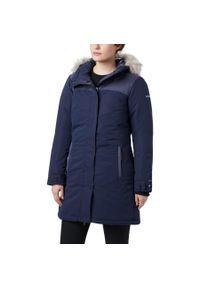 Niebieska kurtka turystyczna columbia na zimę