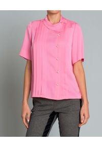 DICE KAYEK - Koszula z jedwabiu. Kolor: różowy, fioletowy, wielokolorowy. Materiał: jedwab. Styl: elegancki