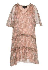 Różowa sukienka letnia Nissa na co dzień, casualowa