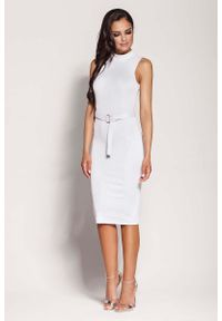 Biała sukienka Dursi ołówkowa, elegancka