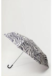 Czarny parasol mango z motywem zwierzęcym