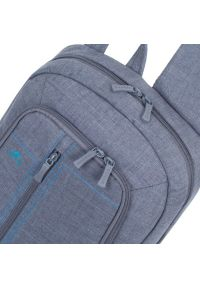 Szary plecak na laptopa RIVACASE w kolorowe wzory