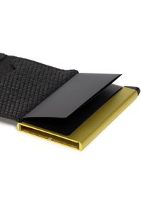 Secrid - Mały Portfel Damski SECRID - Slimwallet SD Diamond Black. Kolor: czarny. Materiał: skóra