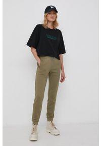 Volcom - T-shirt bawełniany x Max Loeffler. Kolor: czarny. Materiał: bawełna. Wzór: nadruk
