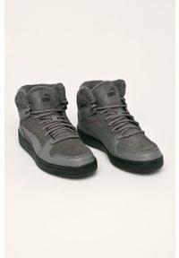 Szare sneakersy Puma z cholewką, na sznurówki
