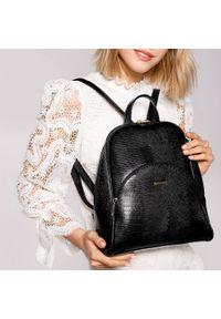 Czarny plecak Wittchen elegancki, gładki