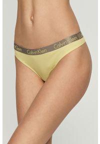 Żółte majtki Calvin Klein Underwear z nadrukiem