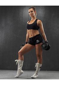 FJ! - Spodenki BOXER Mini - czarne. Kolor: czarny. Materiał: bawełna, dzianina, tkanina, lycra. Długość: krótkie. Sport: kolarstwo, fitness