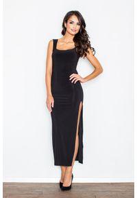 Czarna sukienka Figl maxi, wizytowa