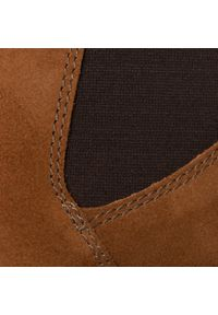 Brązowe buty zimowe Clarks na co dzień, casualowe, z cholewką