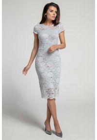 Szara sukienka Nommo midi, ołówkowa