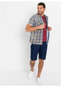 Koszula z krótkim rękawem bonprix niebieski w kratę. Kolor: niebieski. Długość rękawa: krótki rękaw. Długość: krótkie