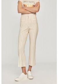 Beżowe spodnie materiałowe Pennyblack