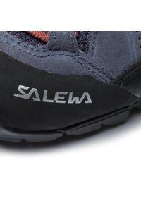 Fioletowe buty trekkingowe Salewa z cholewką, trekkingowe, Gore-Tex