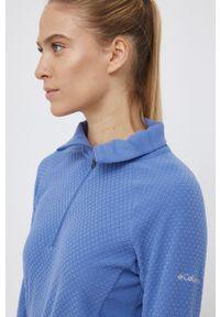 columbia - Columbia - Bluza 1802161. Okazja: na co dzień. Kolor: niebieski. Długość: krótkie. Styl: casual