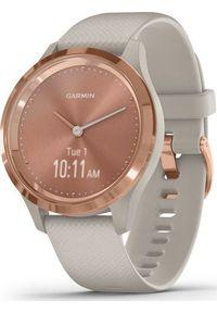 GARMIN - Zegarek sportowy Garmin Vivomove 3S Beżowy (010-02238-22). Kolor: beżowy. Styl: sportowy