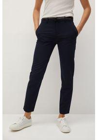 Niebieskie spodnie materiałowe mango casualowe, na co dzień