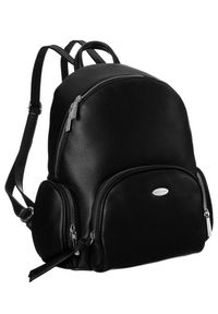 DAVID JONES - Plecak damski czarny David Jones 6521-2 BLACK. Kolor: czarny. Materiał: skóra ekologiczna