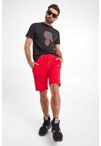 Karl Lagerfeld - T-SHIRT KARL LAGERFELD. Materiał: guma. Wzór: napisy, nadruk. Styl: klasyczny