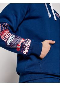 Prosto. - PROSTO. Bluza KLASYK Burnout 2011 Granatowy Regular Fit. Kolor: niebieski