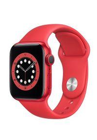 APPLE - Smartwatch Apple Watch 6 GPS 40mm aluminium, PRODUCT(RED) pasek sportowy. Rodzaj zegarka: smartwatch. Styl: sportowy