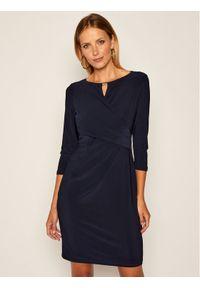 Niebieska sukienka koktajlowa Lauren Ralph Lauren wizytowa