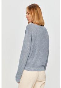 Niebieski sweter Marc O'Polo polo, z długim rękawem, na co dzień, długi