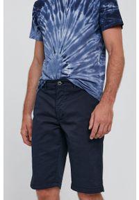 Bomboogie - Szorty. Okazja: na co dzień. Kolor: niebieski. Materiał: tkanina. Wzór: gładki. Styl: casual