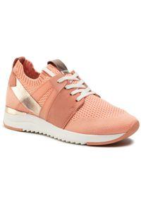Caprice - Sneakersy CAPRICE - 9-23711-26 Peach Knit Com 673. Okazja: na co dzień, na spacer. Kolor: różowy. Materiał: skóra ekologiczna, materiał. Szerokość cholewki: normalna. Sezon: lato. Styl: casual
