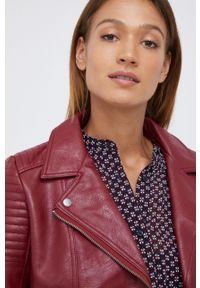 Pepe Jeans - Ramoneska Susane. Okazja: na co dzień. Kolor: czerwony. Styl: klasyczny, casual