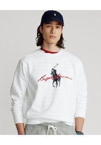 Ralph Lauren - RALPH LAUREN - Biała bluza Big Pony. Typ kołnierza: bez kaptura, polo. Kolor: biały. Materiał: tkanina. Wzór: nadruk