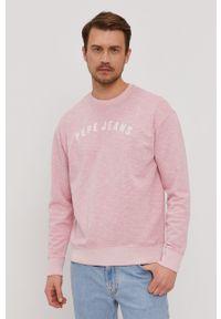 Pepe Jeans - Bluza bawełniana Malik. Okazja: na co dzień. Kolor: różowy. Materiał: bawełna. Wzór: nadruk. Styl: casual