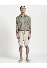 ONETEASPOON - Spodenki Chino Safari Relaxed. Kolor: beżowy. Materiał: tkanina, len. Sezon: lato #4