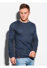 Niebieski sweter Ombre Clothing elegancki, melanż, na co dzień