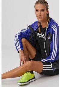 Adidas - adidas - Szorty. Stan: podwyższony. Kolor: czarny. Materiał: dzianina