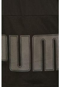 Czarny t-shirt Puma na co dzień, gładki, casualowy #5