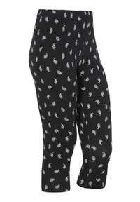 Cellbes Wzorzyste legginsy 3/4 Czarny we wzory female czarny/ze wzorem 38/40. Kolor: czarny. Materiał: guma, jersey