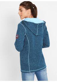 Bluza rozpinana z polaru bonprix ciemnoniebieski melanż. Kolor: niebieski. Materiał: polar. Wzór: melanż