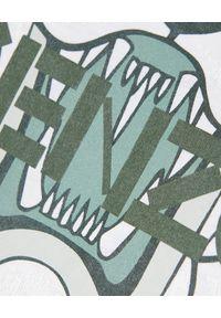 Kenzo - KENZO - Bawełniany t-shirt z tygrysem. Okazja: na co dzień. Kolor: biały. Materiał: bawełna. Wzór: nadruk. Styl: klasyczny, casual