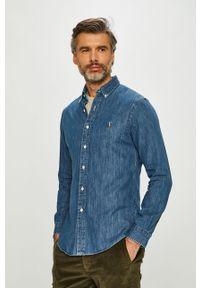 Niebieska koszula Polo Ralph Lauren długa, button down, casualowa