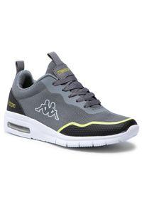 Kappa - Sneakersy KAPPA - Canberra 242939 Grey/Lime 1633. Okazja: na spacer, na co dzień. Kolor: szary. Materiał: skóra ekologiczna, materiał. Szerokość cholewki: normalna. Sezon: lato. Styl: casual