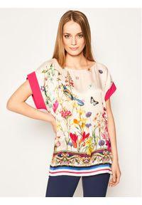 Sukienka Cavalli Class casualowa, w kolorowe wzory, na co dzień, prosta