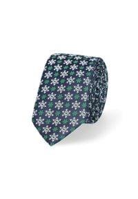 Lancerto - Krawat Mixkolor w Śnieżynki. Materiał: mikrofibra, materiał. Styl: wizytowy, elegancki