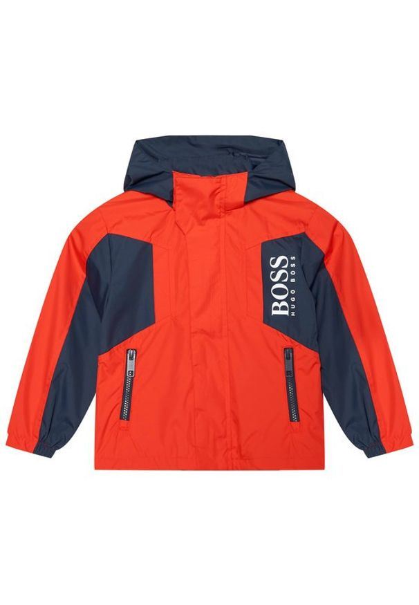 BOSS - Boss Kurtka przejściowa J26434 D Czerwony Regular Fit. Kolor: czerwony